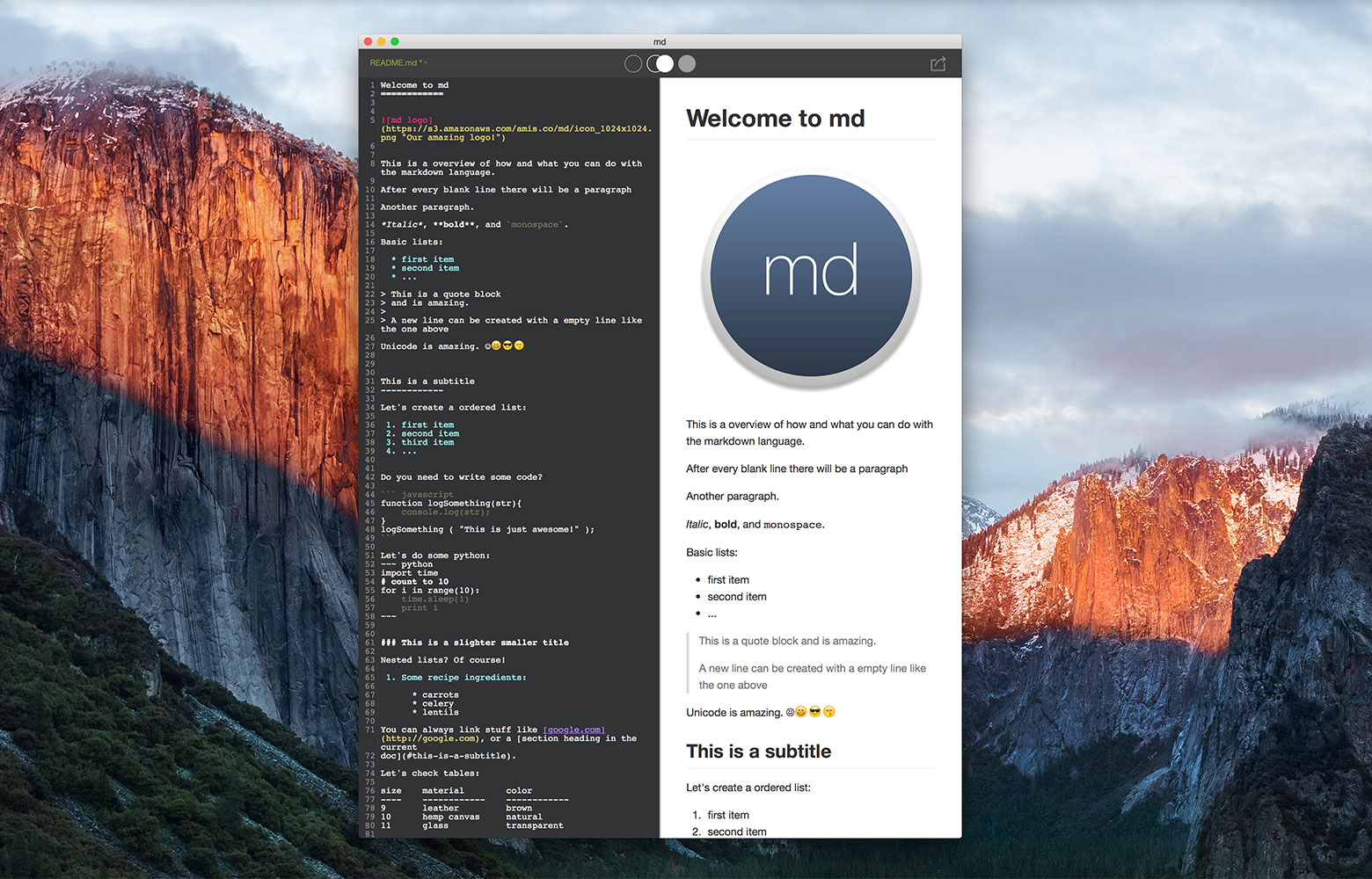 md-markdown-writing-app-procesador-texto-mac-gratis